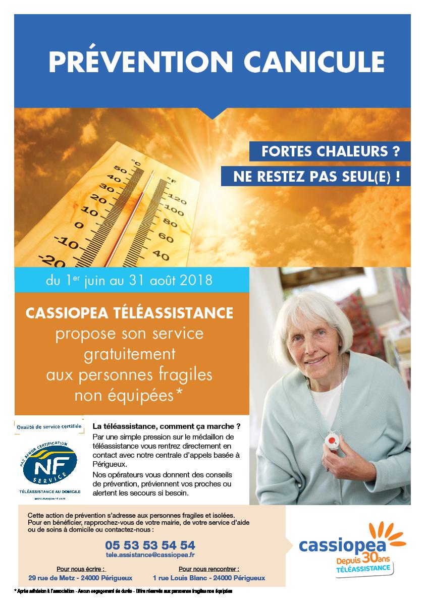 Affiche Opération Canicule Cassiopea